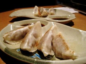 Gyoza ordered somewhere on Queen St W, Toronto